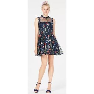 NWT City Studio Fit & Flare Embroidered Dress